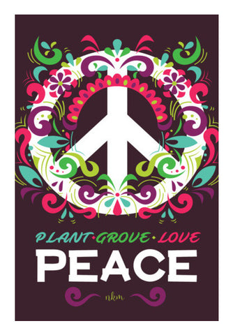Peace Slogan Wall Art | Artist : Manju Nk