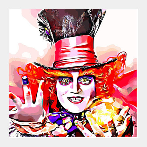 Mad Hatter Square Art Prints PosterGully Specials