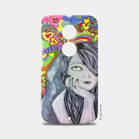 Moto X2 Cases, Girl in Fantasy World Moto X2 Case | Artist: Meghna Garg, - PosterGully