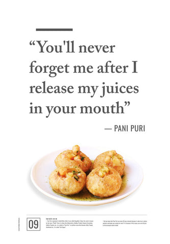 Junk Seduction_Pani Puri Wall Art | Artist : Scatterred Partikles