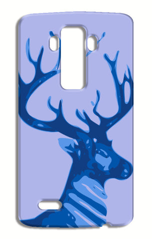 Abstract Deer Blue LG G4 Cases | Artist : Keshava Shukla