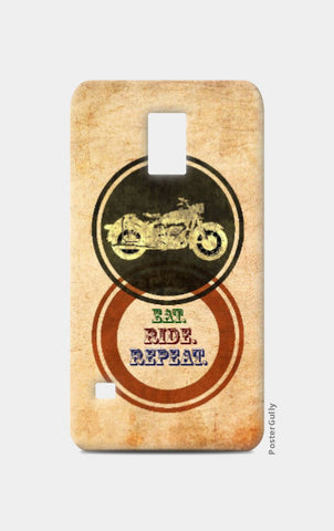 Samsung S5 Cases, Eat Ride Repeat Samsung S5 Case | Artist: Abhishek Faujdar, - PosterGully