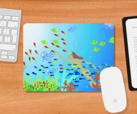 Mousepad, amazing water world Mousepad | Artist : Vidhisha Kedia, - PosterGully
