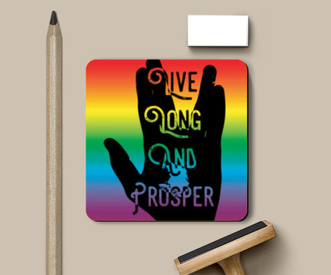 Live Long And Prosper Rainbow Coasters | Artist : Anshul Patria