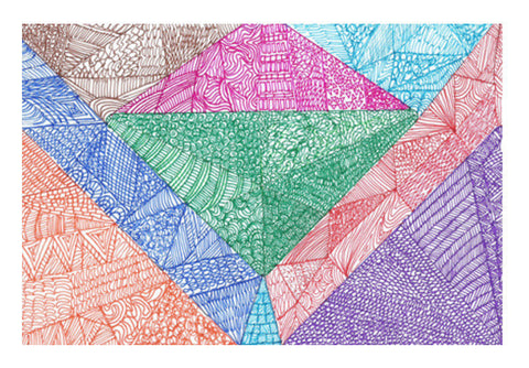 Triangles Art PosterGully Specials