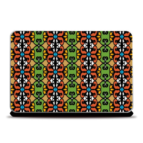 Laptop Skins, Colorful tribal Pattern Laptop Skins | Artist : Seema Hooda, - PosterGully
