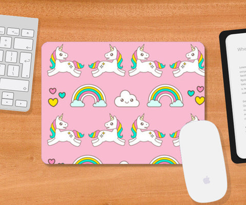 Unicorn Magical World Mousepad | Artist : Colour me expressive