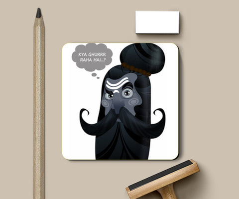 Coasters, looks of Sadhu Coasters | Artist : NIKHILESH KHATRI, - PosterGully