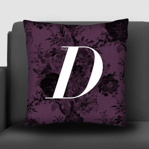 'D' Letter, Literary Print (Dark) Cushion Covers | Artist : Aparna Singh