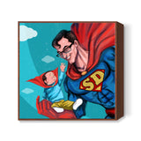 My Dad is Superman - Happy Father's Day Square Art Prints | Artist : Raman Bhardwaj