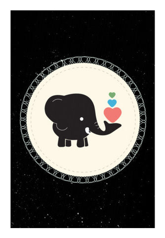 Cute Baby Black Elephant Art PosterGully Specials