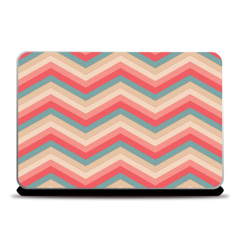 Colorful Zig Zag Abstract Print  Laptop Skins | Artist : Amantrika Saraogi