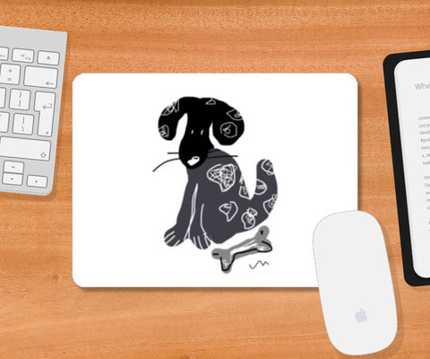 Dog and the bone Mousepad | Artist : Papo Mukherjee