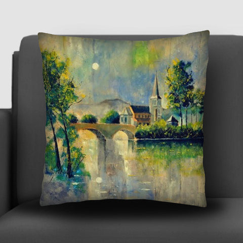 Moonshine in anseremme Cushion Covers | Artist : pol ledent