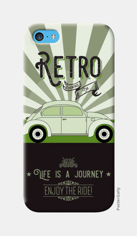 Retro vintage car on green iPhone 5c Cases | Artist : Designerchennai