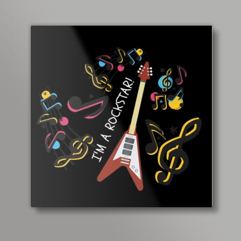MUSIC LOVER Square Metal Prints | Artist : Pallavi Rawal