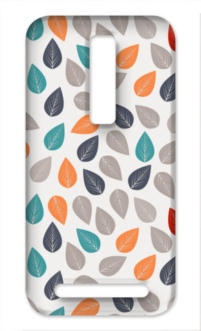 Seamless pattern with multicolored leaf on light background Asus Zenfone 2 Cases | Artist : Designerchennai