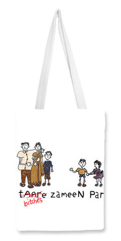 Tote Bags, B*tches Zameen Par Tote Bags | Artist : desiGuy, - PosterGully