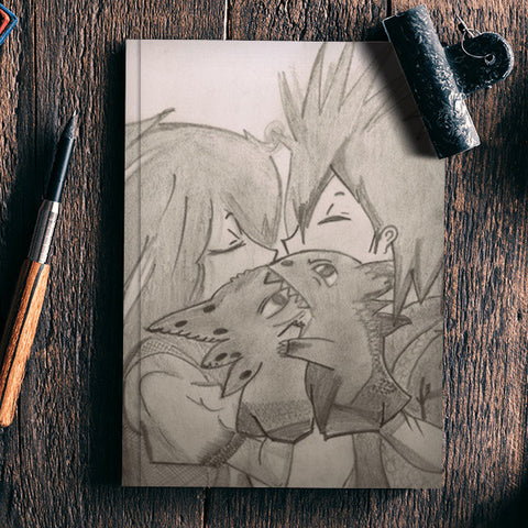 Train your Dragon Kiss Hiccup Toothless Notebook | Artist : DIVYA SHUKLA