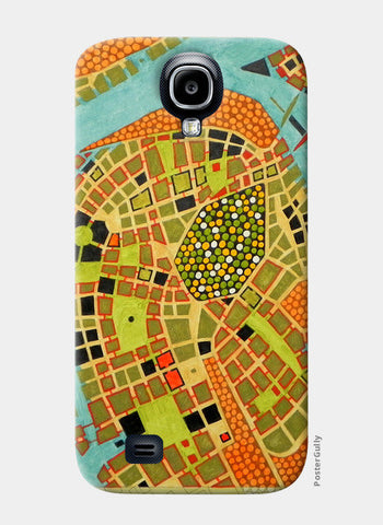 Samsung S4 Cases, imaginary map of Koblenz Samsung S4 Cases | Artist : federico cortese, - PosterGully