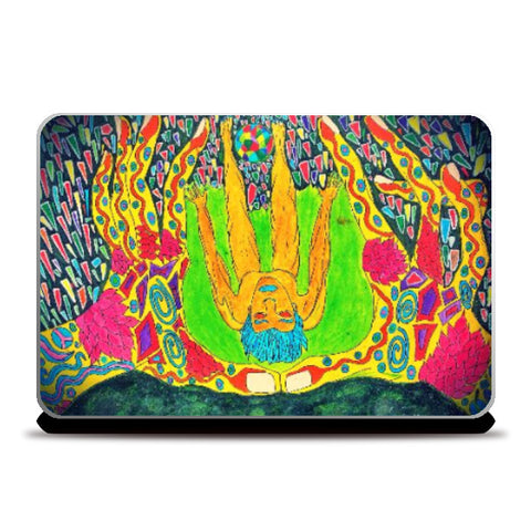 Laptop Skins, Escape the reality | Spiritual Psycho Laptop Skin | Artist: Sourabh Halder, - PosterGully