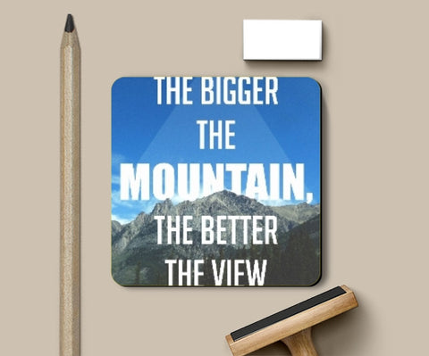 Coasters, Mountain Quote Coaster | Artist: Akshay Kamble, - PosterGully