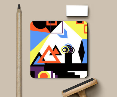 Coasters, Abstract Geometric Coasters | Artist : Aashna Dodhiwala, - PosterGully