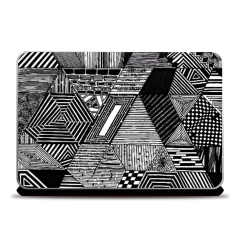 Laptop Skins, Abstract B&W Laptop Skin |Artist: Jasjeet Plaha, - PosterGully