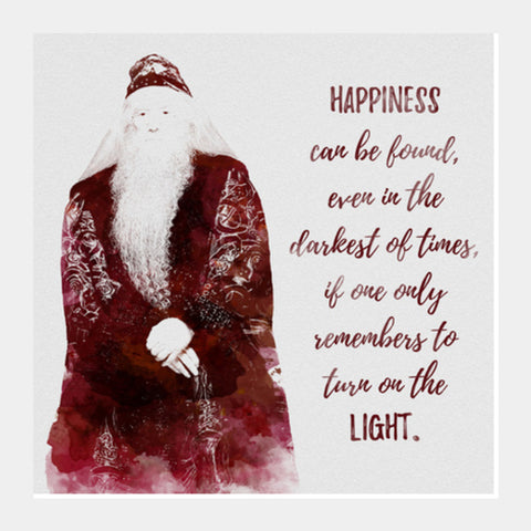 Harry Potter-Albus Dumbledore quote Square Art Prints | Artist : Naeema Rezmin