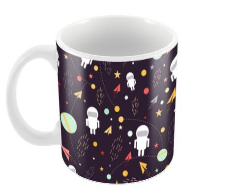 Astronaut pattern Coffee Mugs | Artist : Designerchennai
