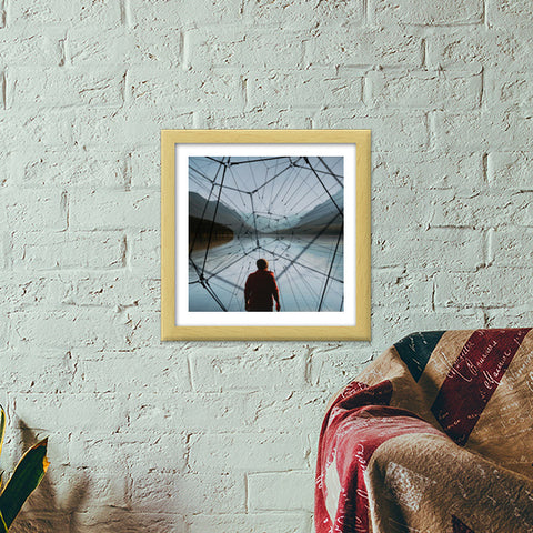Connected World Premium Square Italian Wooden Frames | Artist : Aditya Gupta