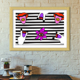 Get Psyched Premium Italian Wooden Frames | Artist : Aam Papad