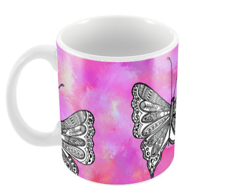 Butterfly Patterns Coffee Mugs | Artist : Amulya Jayapal