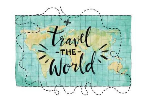 Travel World Map Wall Art  | Artist : Inderpreet Singh