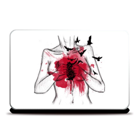 Laptop Skins, Heart Less Laptop Skin | Artist: Anahat Kaur, - PosterGully