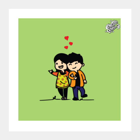 Square Art Prints, Hold you Forever..!! Square Art Prints | Artist : Goggi's Doodles, - PosterGully
