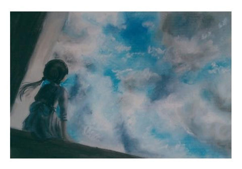 PosterGully Specials, Clouds Wall Art  | Artist : Sukanya Chakraborty, - PosterGully