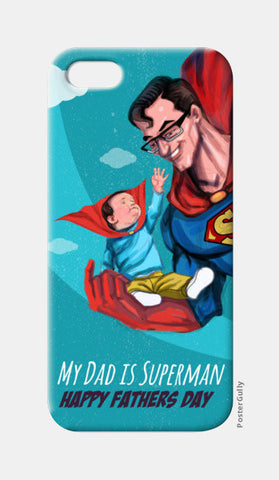 My Dad is Superman - Happy Father's Day iPhone 5 Cases | Artist : Raman Bhardwaj