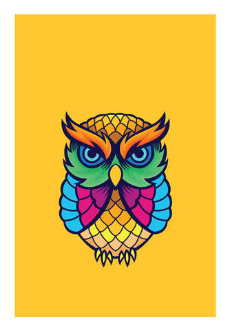 Colorful Owl Wall Art | Artist : Inderpreet Singh