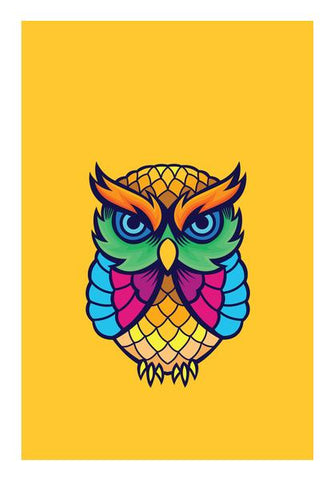 Colorful Owl Wall Art PosterGully Specials