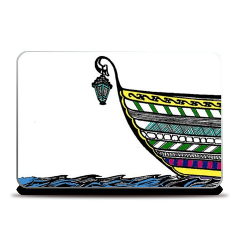 Laptop Skins, Boat in Sea Laptop Skins | Artist : Dr. Green, - PosterGully