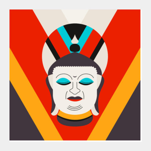 Lord Buddha Art Square Art Prints PosterGully Specials
