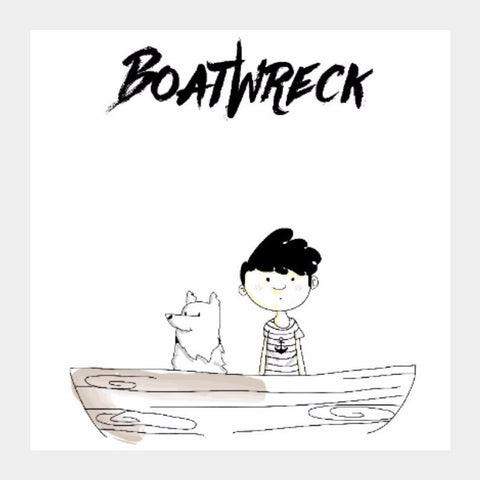 Square Art Prints, BoatWreck Square Art by Amitesh Tandon, - PosterGully