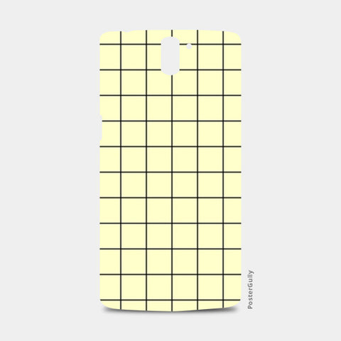 Cream minimalist checks pattern One Plus One Cases | Artist : Gauri Deshpande