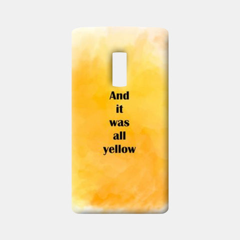COLDPLAY : YELLOW One Plus Two Cases | Artist : Kau.Vish
