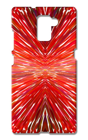 Abstract Red Burst Modern Design Huawei Honor 7 Cases | Artist : Seema Hooda