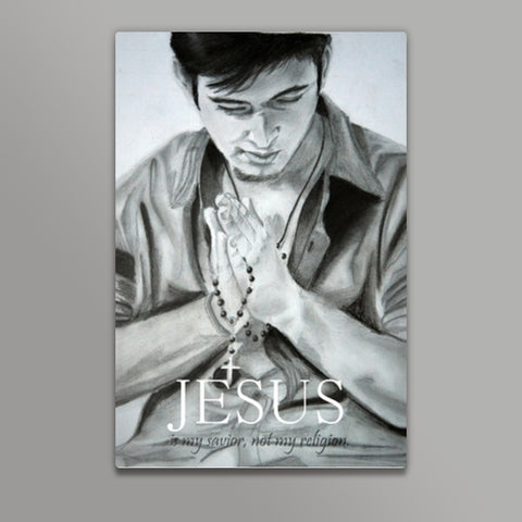 Jesus is my savior!  Metal Prints | Artist : Chahat Suri