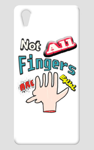 Not All Fingers Are Equal (White Back) One Plus X Cases | Artist : Nitin Kapoor