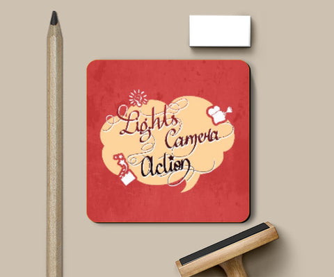 Coasters, Lights Camera Action Coaster | Artist: Pushkar Priyadarshi, - PosterGully