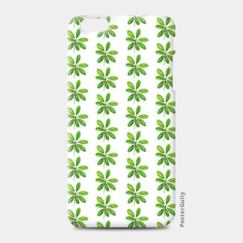 Elegant Painted Green Leaves Pattern  iPhone 6 Plus/6S Plus Cases | Artist : Seema Hooda